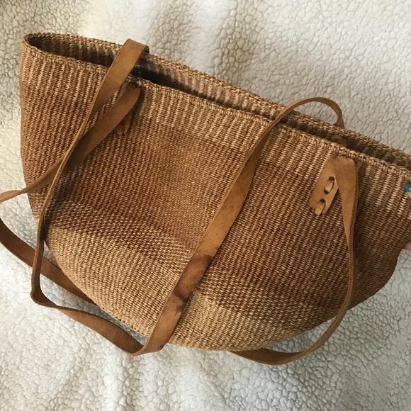 0383cd865 Handmade Round Straw Bag